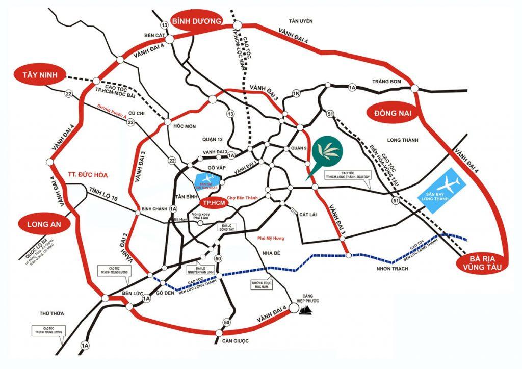 Vị trí MT Eastmark City theo đường vành đai